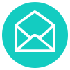 An email icon to represent the email redirection that is available when you purchase a domain from netfishes.