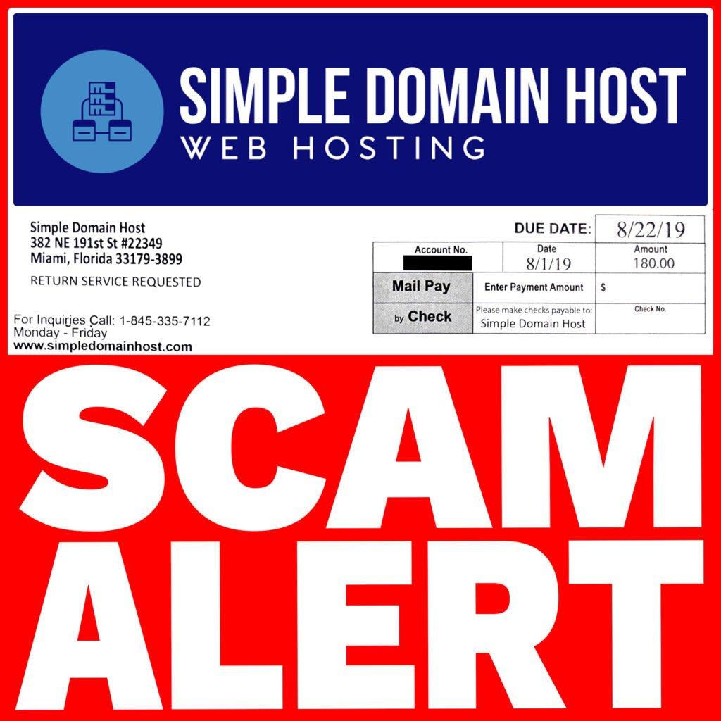 Simpledomainhost.com Scam alert